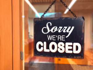 Wir haben geschlossen